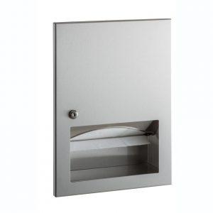 Manual Folded Paper Towel Dispenser Recessed Mount
